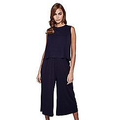 Mela London - Navy sleeveless culottes jumpsuit
