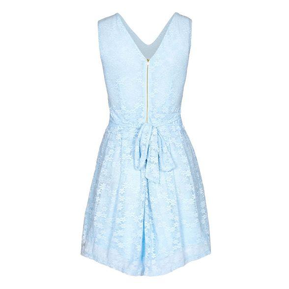 Mela dress floral lace London skater 'Vanity' Blue qTBq7gwU