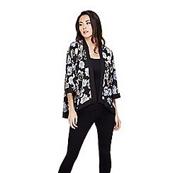Mela London - Black rose print kimono jacket
