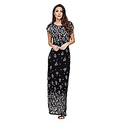 Mela London - Black lace border 'ermine' maxi dress