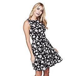 Mela London - Black peony print 'Myra' dress