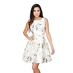 Mela London - Cream floral 'Myrtle' prom dress