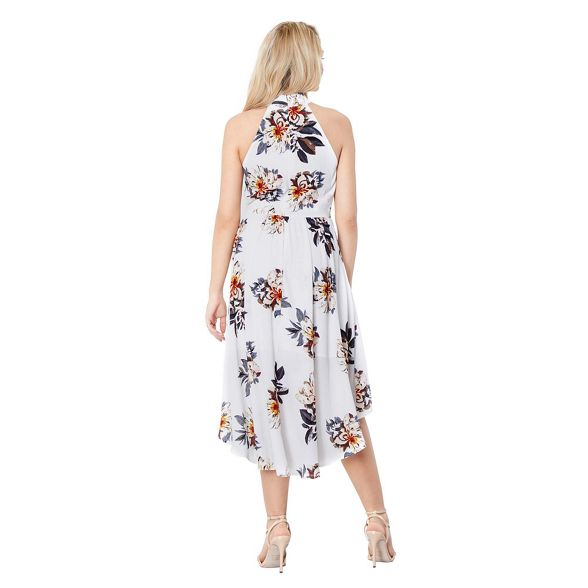 floral dress high London skater White low print Mela 'Peace' EFTq8Sww