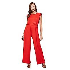 Mela London - Red ruffle sleeve jumpsuit