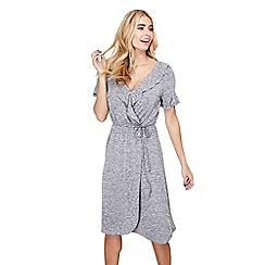Mela London - Silver frill 'gigi' wrap front dress