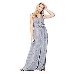 Mela London - Silver ruffle 'Naima' maxi dress