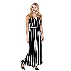 Mela London - Black striped 'griselda' maxi dress