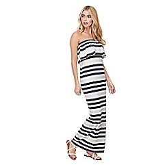 Mela London - White striped 'Ophelia' bodycon maxi dress