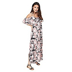 Mela London - Pink floral print 'Gracen' maxi dress