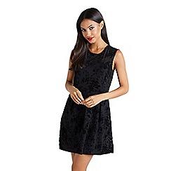 Mela London - Black 'Dahlia' sleeveless skater dress