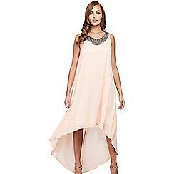 Mela London - Mid rose embellished 'Valene' hi low dress