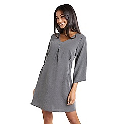 Mela London - Grey pinstripe 'Denina' tunic dress