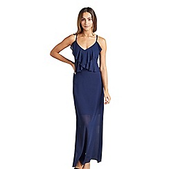 Mela London - Navy sheer 'celese' maxi dress