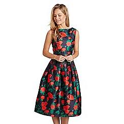 Mela London - Multicoloured rose pattern 'Charay' prom dress