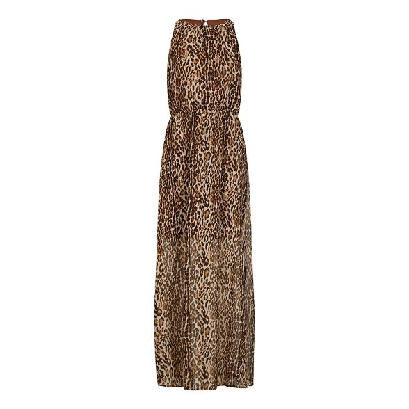 print maxi 'Vannette' animal Brown London dress Mela qaARwW