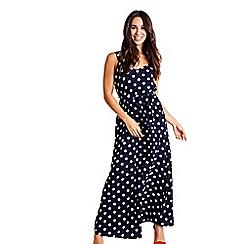 Mela London - Navy polka dot 'Vanshika' maxi dress