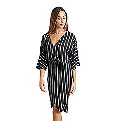 f8f8a3d6a35 Mela London - Black plain  Charen  kimono sleeve wrap dress