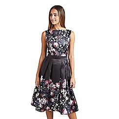 Mela London - Black wild botanical 'Chania' prom dress