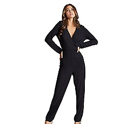 Mela London - Black tie back jumpsuit