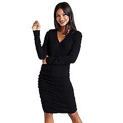 Mela London - Black knitted 'Edrina' bodycon dress