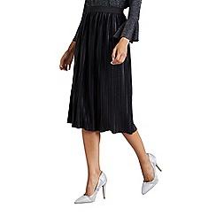 Mela London - Black pleated midi skirt