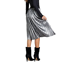 Mela London - Silver pleated skirt