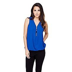 Mela London - Blue zip front blouse