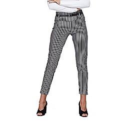 Mela London - Black monochrome belted trousers