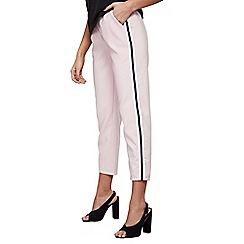 Mela London - Mid rose panel stripe luxe trousers