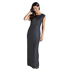 Mela London - Black metallic striped 'Ellean' maxi dress