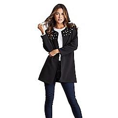 Mela London - Black pearl embellished jacket