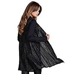 Mela London - Black metallic sleeveless gilet
