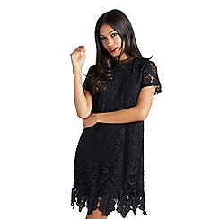 Mela London - Black 'Belina' lace tunic dress