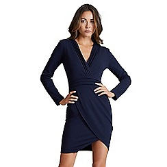 Mela London - Navy panelled 'vanissa' long sleeve bodycon dress