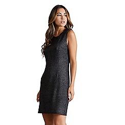 Mela London - Black metallic 'Edrena' sleeveless bodycon dress