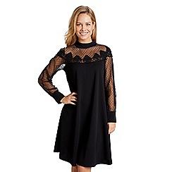 Mela London - Black sheer lace 'Deniss' tunic dress