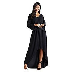 Mela London - Black metallic knitted 'Denine' maxi dress
