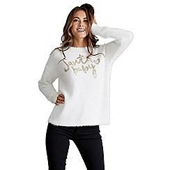Mela London - Cream slogan christmas jumper