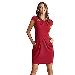 Mela London - Red 'Cosima' cap sleeve tulip dress