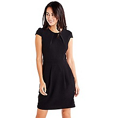 Mela London - Black 'Coryna' cap sleeve tulip dress