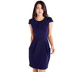 Mela London - Navy cap sleeve tulip dress