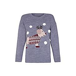 Mela London - Grey sausage dog Christmas jumper