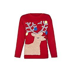 Mela London - Red pom pom reindeer jumper