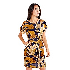 Mela London - Navy Floral Print Tunic Dress