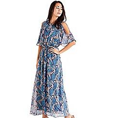 Mela London - Navy Floral Printed Maxi Dress