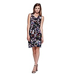Yumi - Multicoloured  Party Dress With Cherry Blossom Print