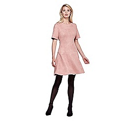 Yumi - pink Suedette Flared Dress