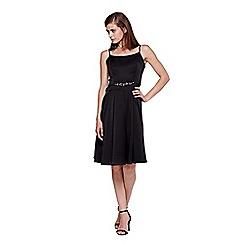 Yumi - black Diamante Detail Strappy Prom Dress