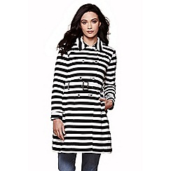 Yumi - Black Stripe Trench Coat