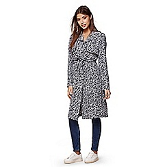 Yumi - Blue Floral Trench Coat